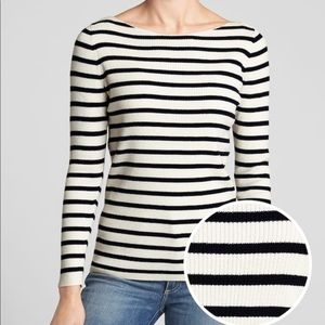 Gap Ribbed Long Sleeve Boatneck Pullover